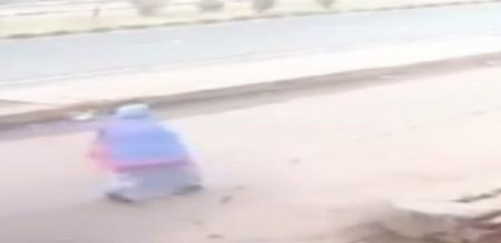 Car Flips Several Times Before Hitting Woman In UP