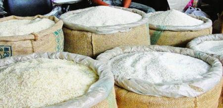 A RATION SHOP MEMBERS ARE STOLEN RICE AND OTHER GOVT. PRODUCTS