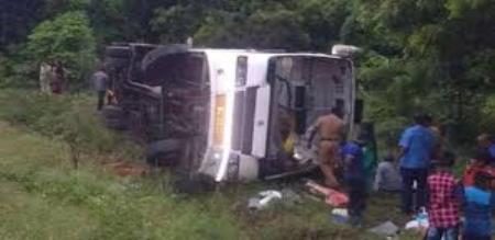 omni bus accident in tindivanam
