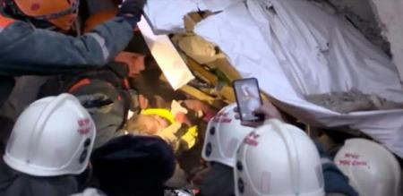 in Russia a building collapse a baby rescued successfully after 35 hrs