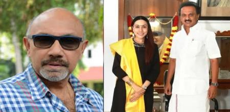 sathyaraj daughter talk about meeting with stalin