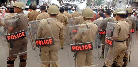 police fully controlled in Chennai