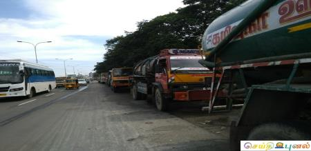 Sewage trucks strike in chennai