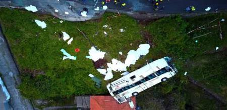 in Portugal tourist bus getting accident 29 peoples died