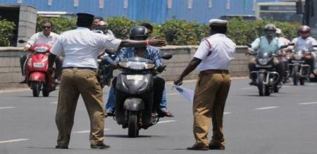 In ariyalur the traffic police will check vehicles and one day will fine collect in Rs.24,500/-