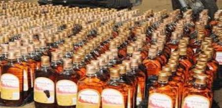 liquor bottle smuggling seized