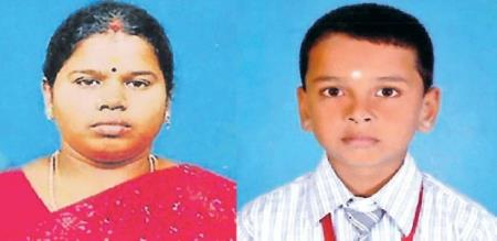 in thiruthani girl killed by thief gang and also killed her son police investigation going on