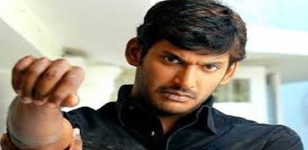 Actor vishal helping to young girl