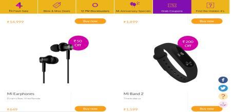 Xiaomi 4th MI anniversary New Offers
