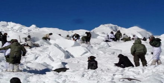 Avalanche hits Army positions in the Siachen Glacier