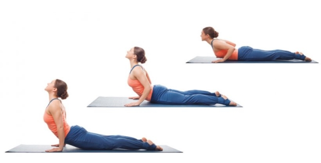 Bhujangasana for neck and back pain