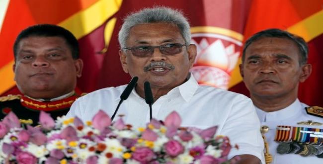 first order of srilankan president Gotabaya Rajapaksa