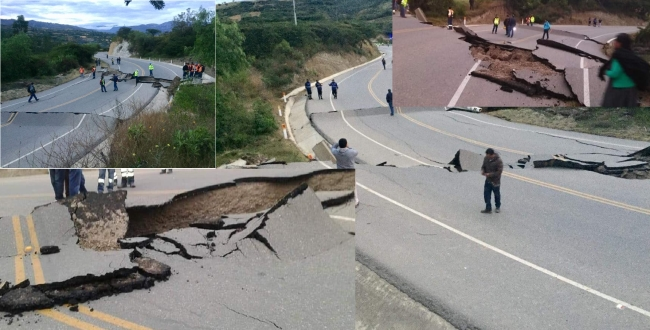 in peru earthquake video and images released