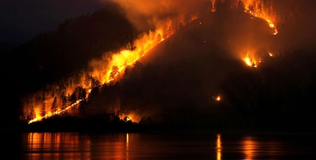 Siberia forest fire