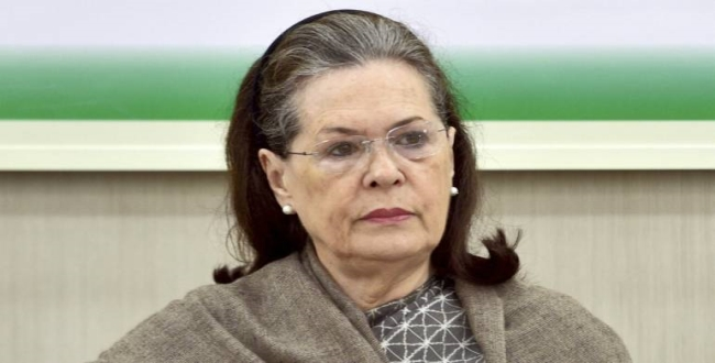 Bjp angry about Sonia ganthi