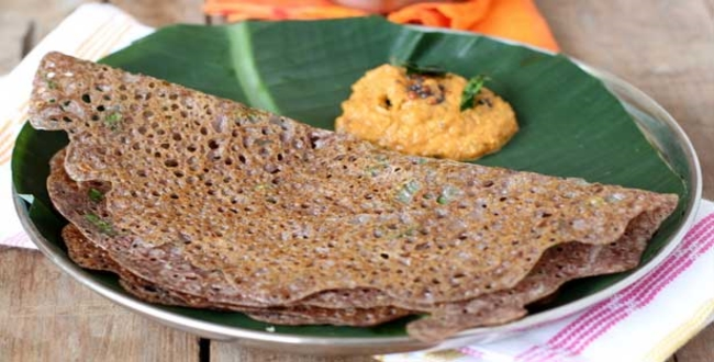 ragi dosai recipe preparation
