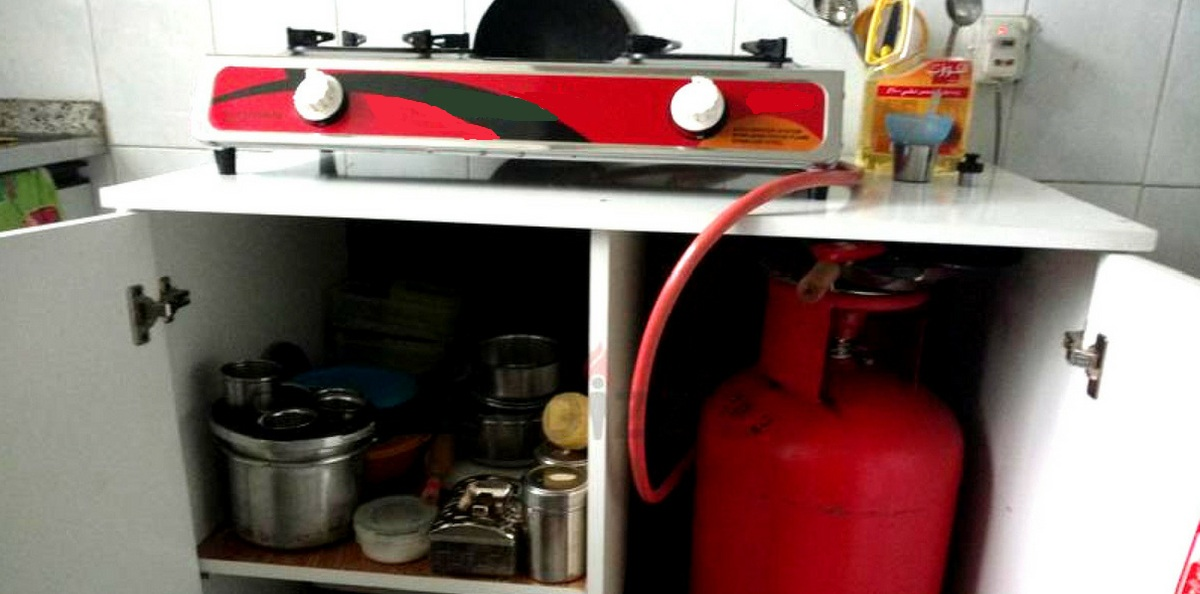 gas, gas cylinder in home,