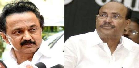 dr ramadoss notice to dmk rs.bharati