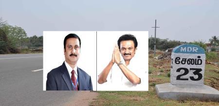stalin hide his party behind pmk in 8 way road scheme