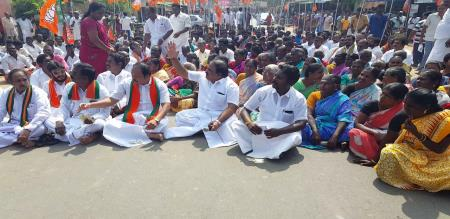 BJP person arrested in mayiladuthurai