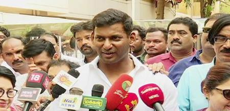 vishal press meet about election