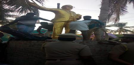 ambethkar statue removed