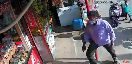 Tirupattur Ambur Police Angry due to Shop open