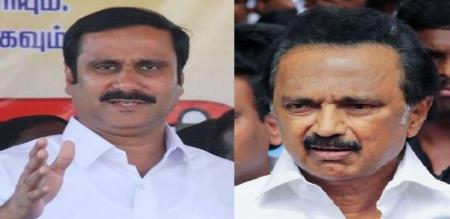 anbumani replies to mk stalin in 8lane way issue