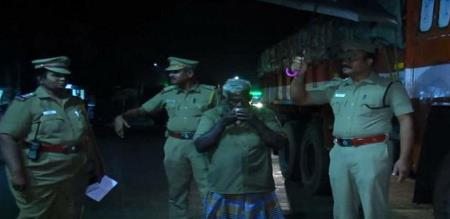ariyalur police officer awareness for night drivers