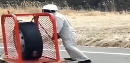 tyre blast viral video
