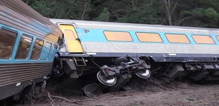 in Australia train accident two peoples died