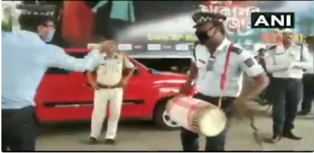 Assam police celebrate Bihu festival video