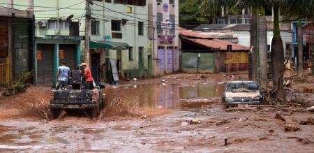 in Brazil rain flood and landslide peoples died and injured