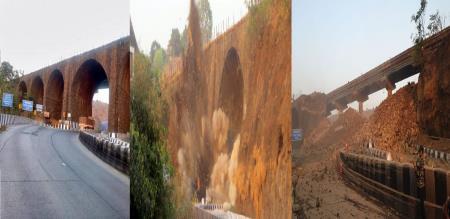 Mumbai Pune Express way 189 year old British Amrutanjan Bridge collapsed