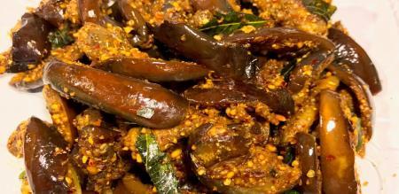 brinjal fry preparation in tamil