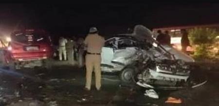 13 members death on car accident in Karnataka