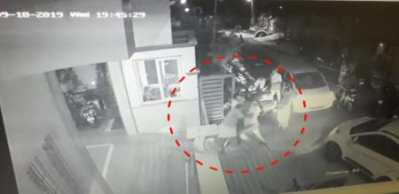 unknown person attack the aged watchman