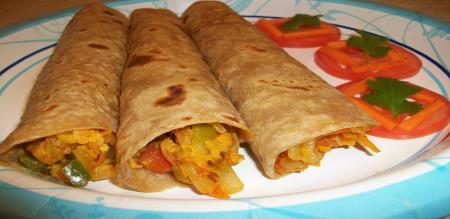 chapatti roll recipe in tamil
