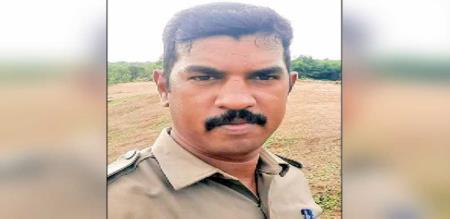 in Chennai car accident police officer died