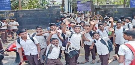 in chennai private school leave for no water problem