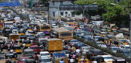 in chennai heavy traffic