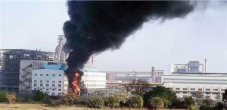 in China steel factory fire accident 7 peoples died