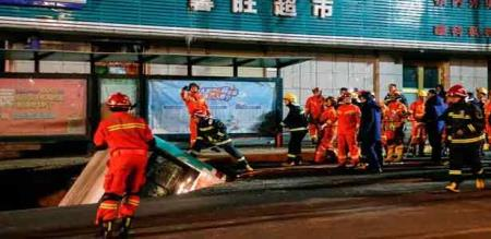 in china bus accident in mud peoples died