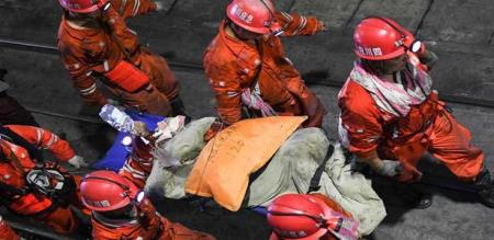 in china workers rescued form mine
