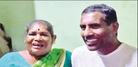 in chennai son meets mother after 42 years
