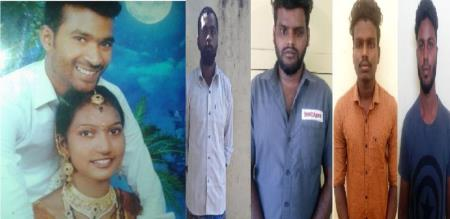 in Coimbatore wife killed by husband and his friends