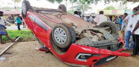 Coimbatore car accident due to drinking alcohol
