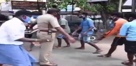 Coimbatore police punishment violent corona virus amid