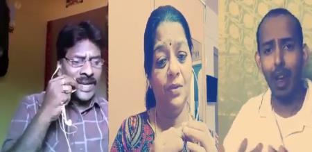 Tamil singers sing about corona virus
