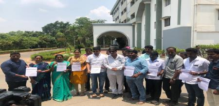 Coimbatore PMK youth wing persons gave petition to police commissioner